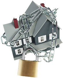 Mortgage Foreclosure Solutions House in chains
