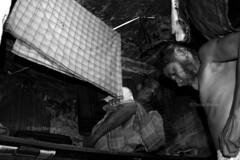 DSC_1098 (Tanja on flikr) Tags: 2005 bw india dressing rickshaw kolkata puller westbengal black38white