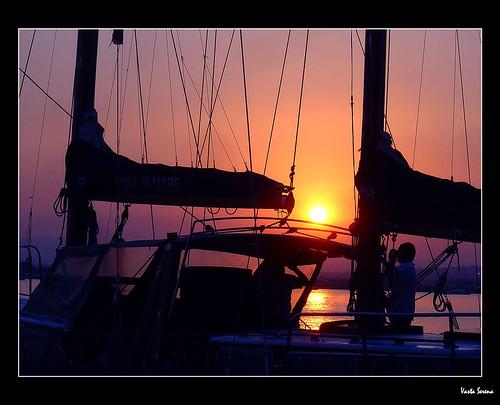 Io fotografo lui che fotografa il tramonto