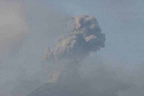 Smoking Semeru Volcano