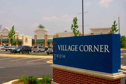 Westech Village Corner Sign