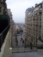 Looking down the streets from Montmartre