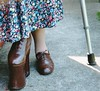 48b4 (betsboot) Tags: boots crutches appliances raised polio orthotic