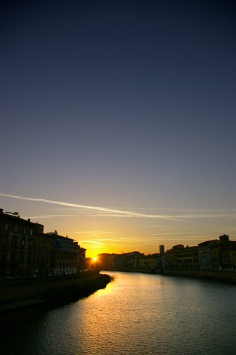 Pisa Arno atardecer2