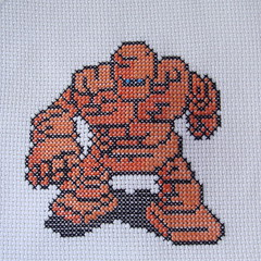 Golem (benjibot) Tags: crossstitch crafts videogames crop nes dragonwarrior reshoot