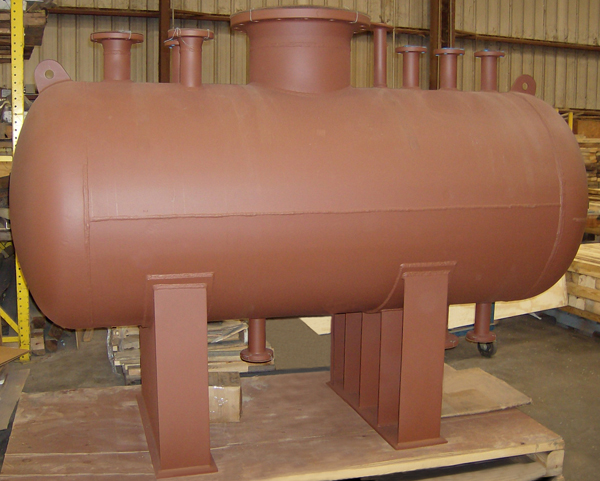 7 Foot Long Pressure Vessel for a Chemical Plant