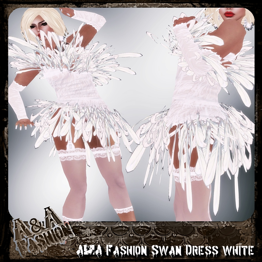 A&A Fashion Swan Dress White