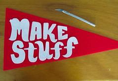 Felt Pennants! (Willbryantplz) Tags: austin texas sew felt handlettering pennant renegadecraftfair makestuff fontmanship