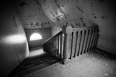 Stairway to hell (Ole R. Johansen) Tags: white black stairs hospital nikon decay elevator sigma toilet hallway abandon 1020 lier mental sykehus d300
