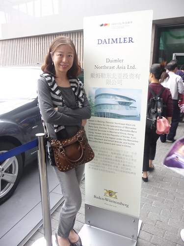 Also Grace and mine former employer (Daimler Northeast Asia) had a presence at the Expo