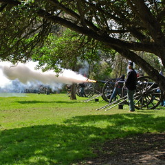 Yankee Fire (nebulous 1) Tags: nikon smoke explore cannon yankees loud laborday confederates 408 civilwarreenactment october20 huntingtonbeachcentralpark nebulous1