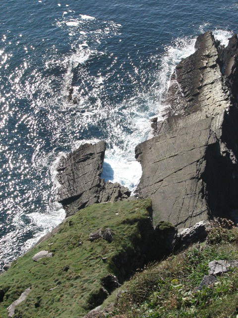 bottom, cliffs