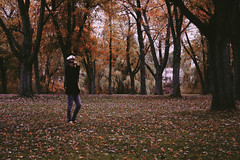 all that i see. (londonscene) Tags: autumn fall girl hat leaves forest scenery sailor