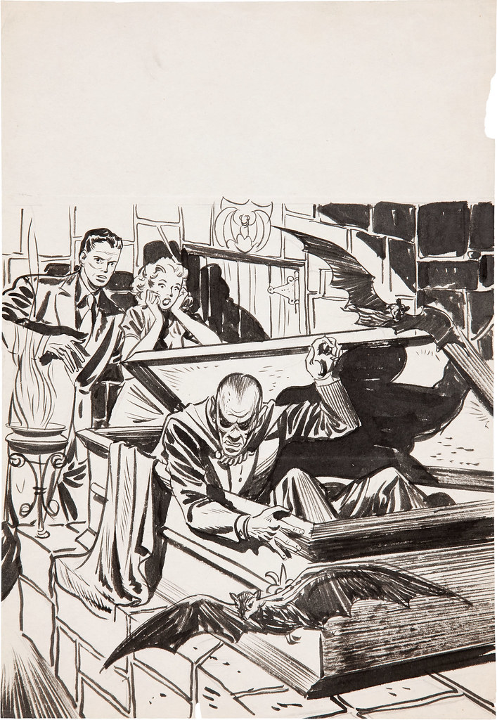 Warren Kremer - The Beyond #2 Concept Sketch (Ace, 1951)