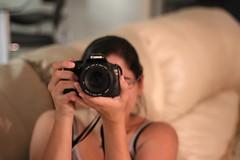 Sophia Using A Real Camera
