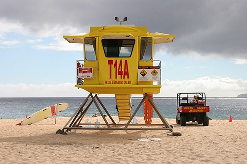 Lifeguard at Makena (Big) Beach