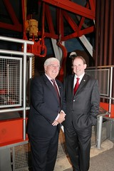 Batt O'Keeffe, with Frank Ryan, Chief Executiv...