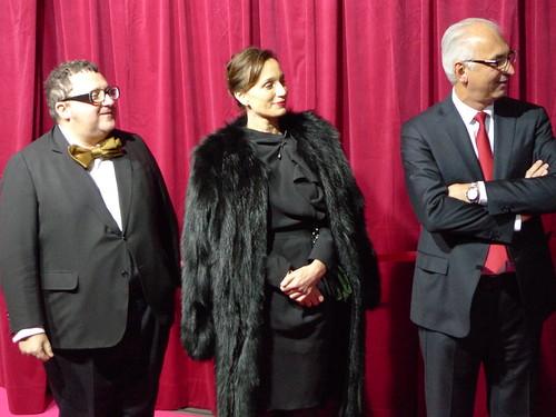 Inauguration des vitrines de Noël du Printemps par Alber Elbaz et Kristin Scott Thomas - Paris, novembre 2010