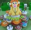 Jungle Birthday Cake (soetkoek) Tags: birthday boy elephant animals cake gum monkey panda paste lion first cupcake jungle gumpaste
