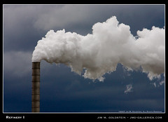 Refinery I (jimgoldstein) Tags: sky grey washington skies smoke gray atmosphere stormy smokestack pollution refinery globalwarming jmggalleries jimmgoldstein
