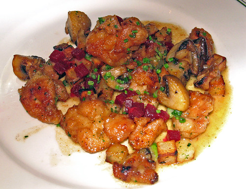 Sauteed Sweetbreads  with Potatoes, Mushrooms & Sherry-Mustard Sauce