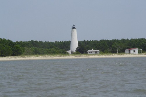 The lighthouse on North Island at the mouth of Winyah Bay, South Carolina