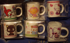 Sanrio Mini Mugs (Robozippy) Tags: cute kitchen fun little hellokitty adorable mini sanrio tiny kawaii chococat mymelody pandapple chichaimonchan minimugs