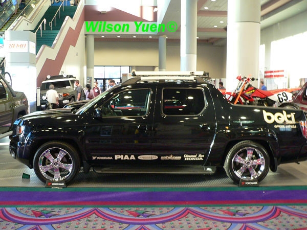 cars honda modified trucks autos custom ridgeline sema2005