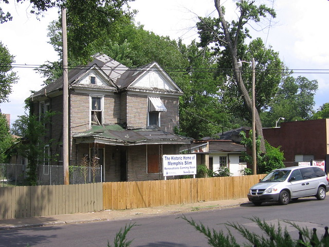 The historic home of bluesman Memphis Slim is located across the street from