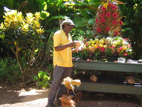 Coconut Husking Demo
