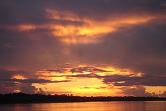 Amazonian sunset (10b travelling) Tags: sunset brazil sky peru latinamerica southamerica rain rio ctb project river amazon rainforest skies research volunteering jungle ten volunteer americas carsten sudamerica brink earthwatch 10b yavari cmtb tenbrink