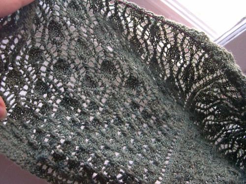 peacock feather shawl, as of 9 August