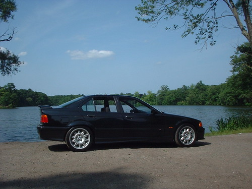 Black sedan BMW M3