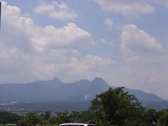 途中で見えた山