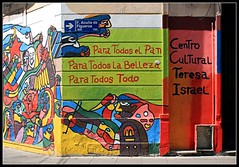 "Para Todos el Pan, la Belleza, Todo... (Monica ""la"" Lopez (Monica2362)) Tags: streetart mural vivid urbanart magical coolest arteurbano muralismo abigfave anawesomeshot colorphotoaward memoriayjusticia impressedbeauty superbmasterpiece nuncams theperfectphotographer centroculturalteresaisrael partidoyfedjuvenilcomunista"