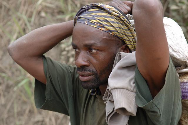 Un déplacé au Kivu