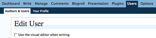 Turn Off Visual Editor in WordPress