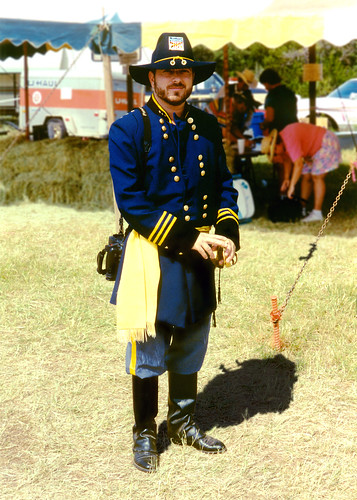 Union Officer, Civil War reenactment,Granbury