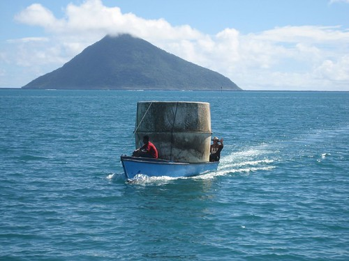 water tank from volcano island