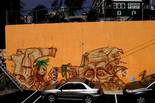 City Hostel mural