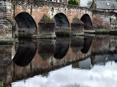 The River Nith at Dumfries (6) (allybeag) Tags: bridge water reflections river weir dumfries nith rivernith rnbnith