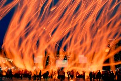 Burning Hell? No, they are sky lanterns !! #18 () Tags: taiwan    pingxi skylantern supershot 20mmf28d mywinners abigfave anawesomeshot thelanternfestival ysplix thelanternday