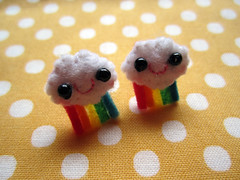 Kawaii cloud rainbow studs... ( KawaiiCloud ) Tags: cloud kawaii earrings studs cutes