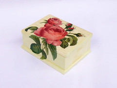 "Jewellery box ""Letter with Roses"""