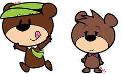 chibi character: Yogi Bear and Boo Boo