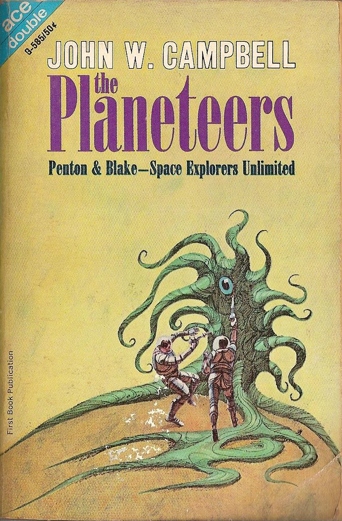 Jack Gaughan cover art - JOhn W. Campbell - The Planeteers, 1966