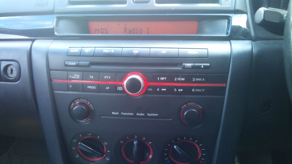 Mazda 3 factory installed radio