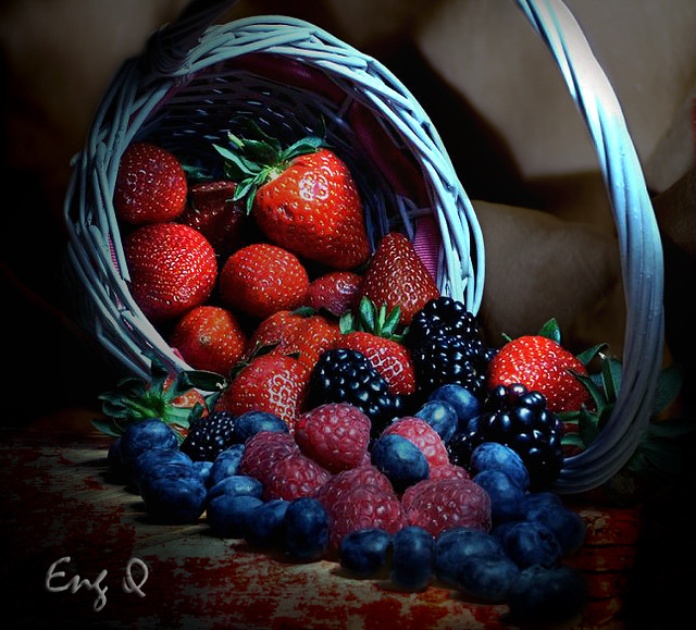 basketful of berries