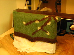 Felted purse, post-felting