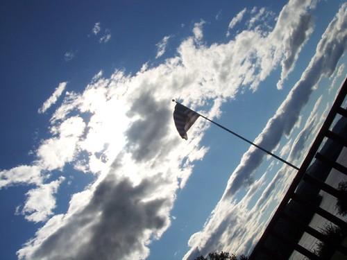 backlit flag